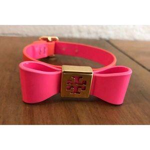 Tory Burch coral bow logo bracelet